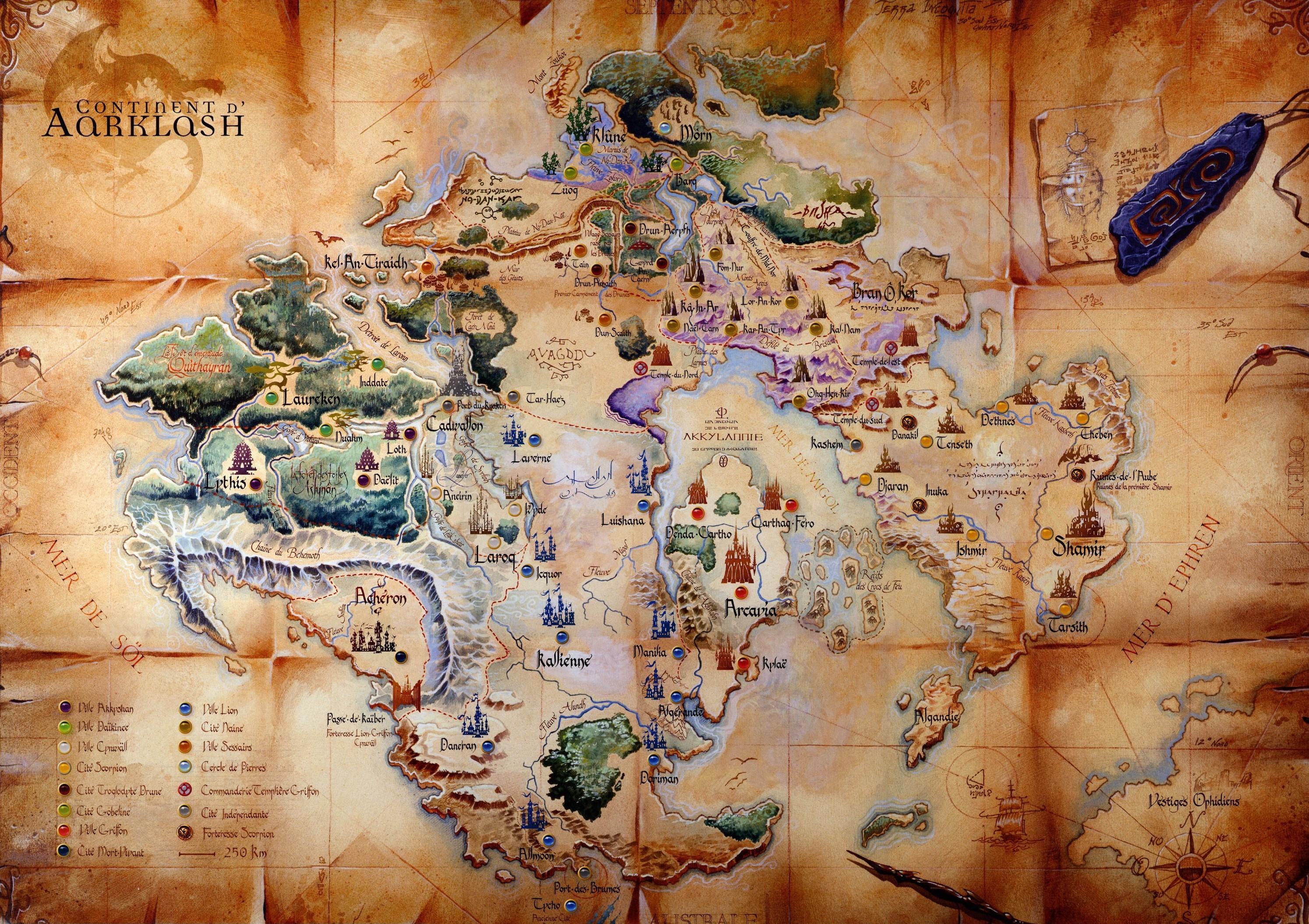 propose de découvrir le monde d'Aarklash en parcourant la carte de ...