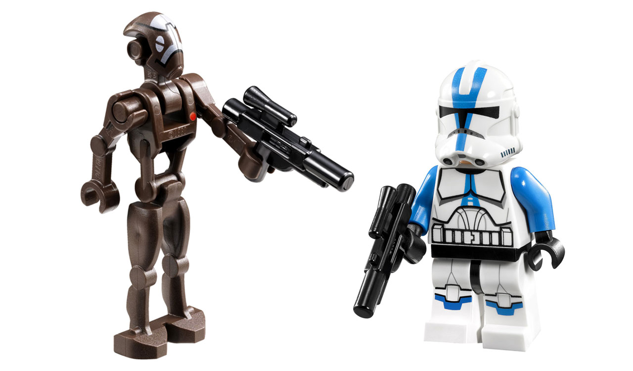 lego star wars 75002 at rt 501st clone trooper et commando droid captain