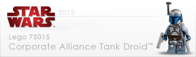 75015 Corporate Alliance Tank Droid - Nouveauté LEGO Star Wars 2013 !
