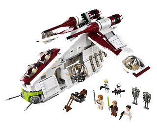 lego star wars 75021 republic gunship le set