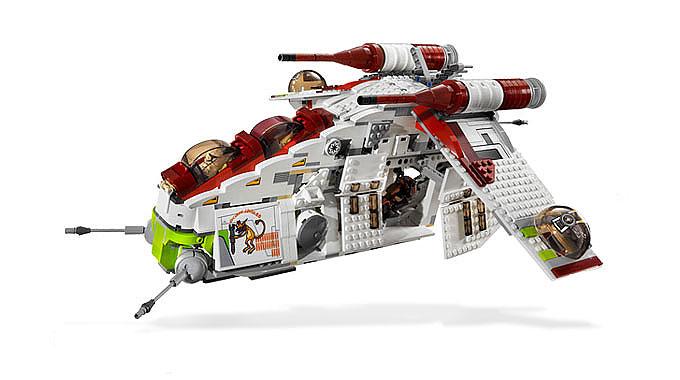 lego star wars 7676 republic attack gunship