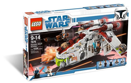 LEGO Star Wars 7676 - Republic Attack Gunship