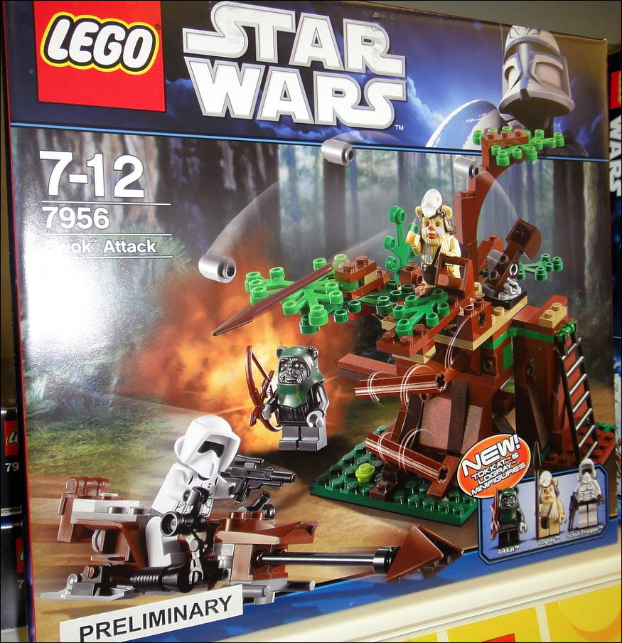 Lego star wars 7956 ewok attack nouveauté lego 2011 du 2nd semestre