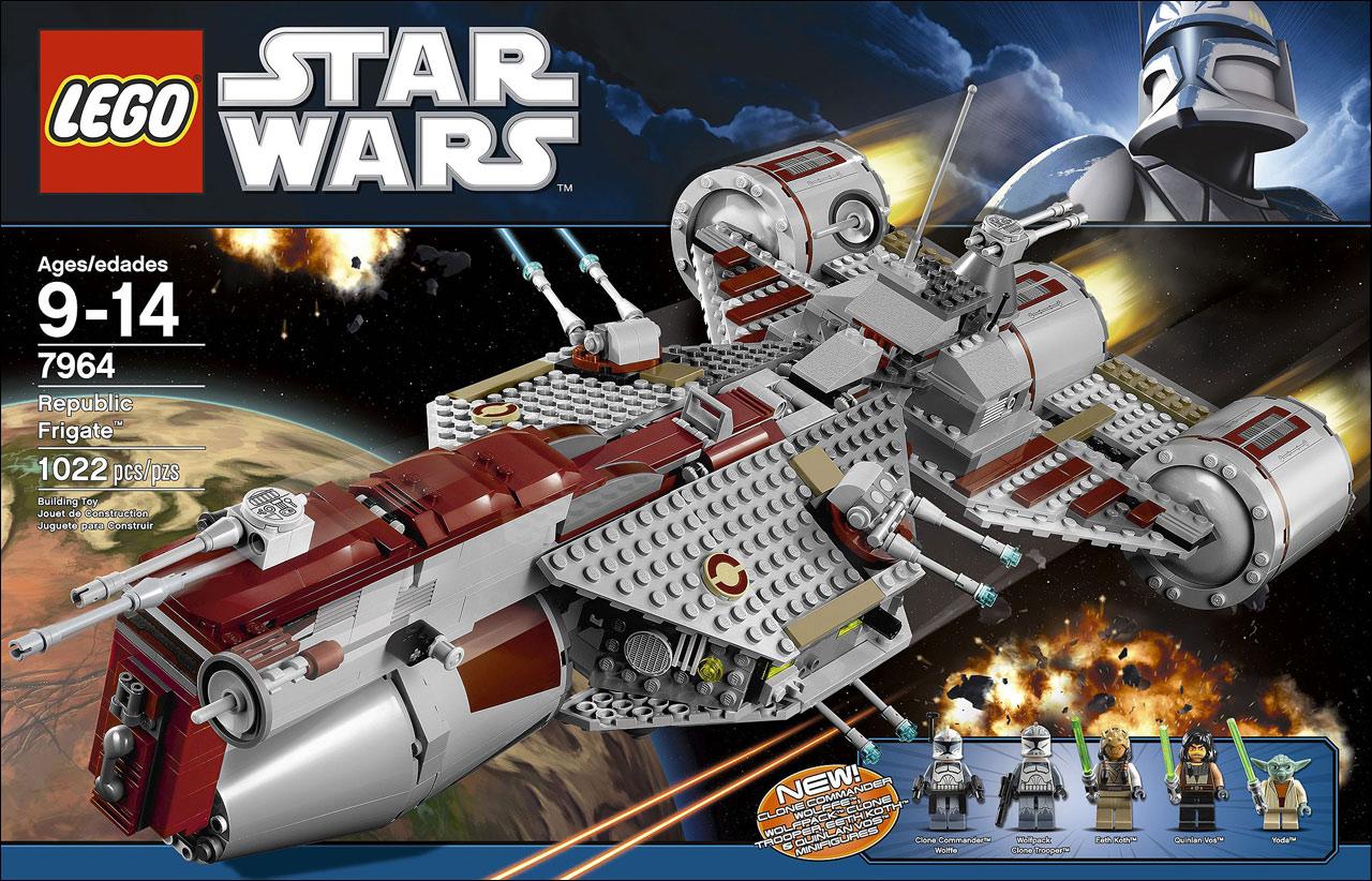Pics photos lego star wars 7964 republic frigate - Boite de rangement pour lego ...
