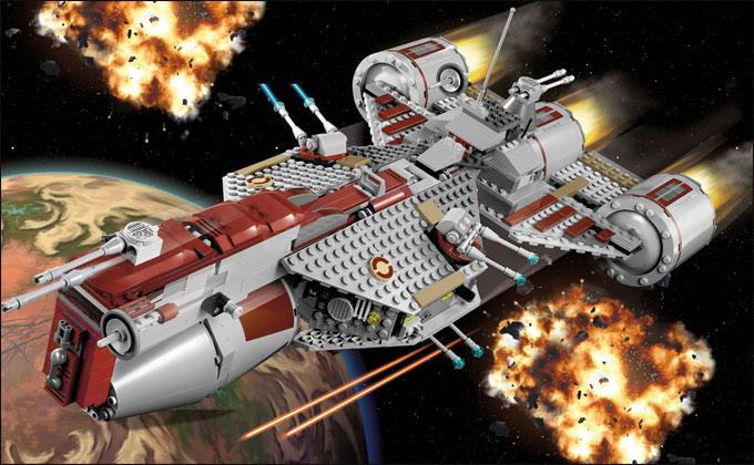 7964 republic frigate nouveau set lego star wars 2011 second semestre summer set