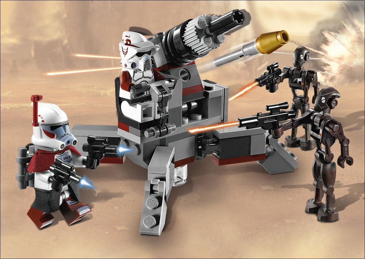 9488 Elite Clone Trooper & Commando Droid  Lego Star Wars Photos, review,