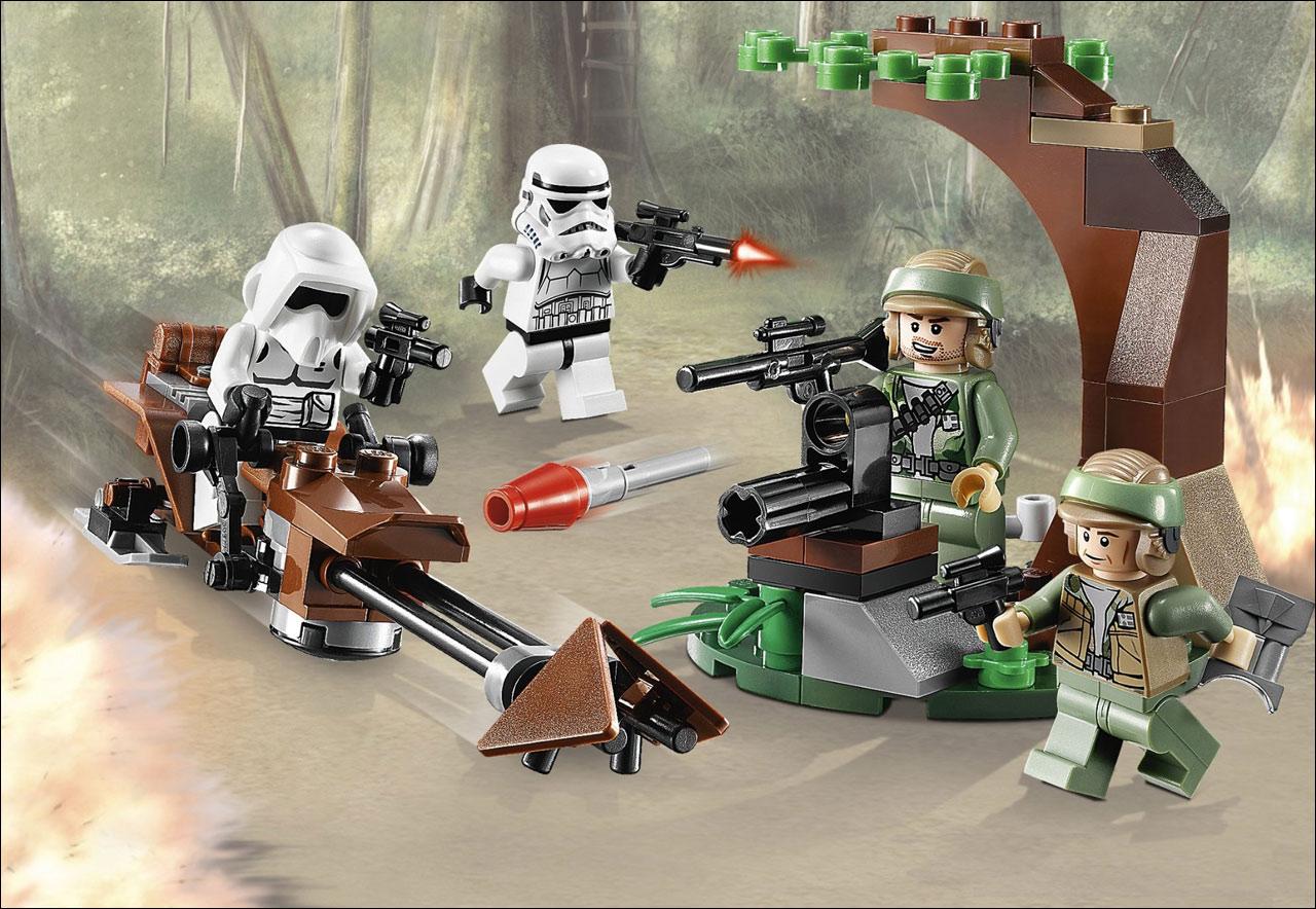 9489-Endor Rebel & Imperial Trooper Star-Wars de LEGO