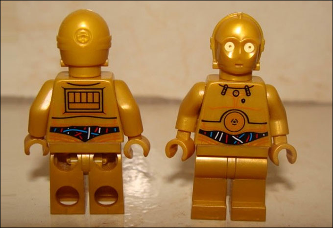 Nouvelle minifigurine de C-3PO du set LEGO Star Wars 2012 - 9490 Droid Escape !