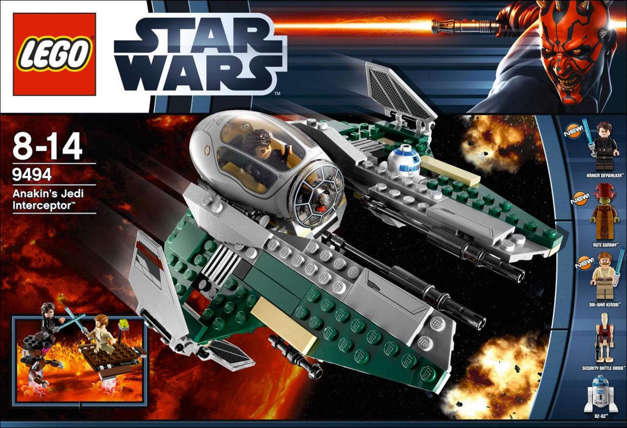 9494 anakin 39 s jedi interceptor lego star wars photos review caract ristiques et prix du set - Vaisseau star wars anakin ...