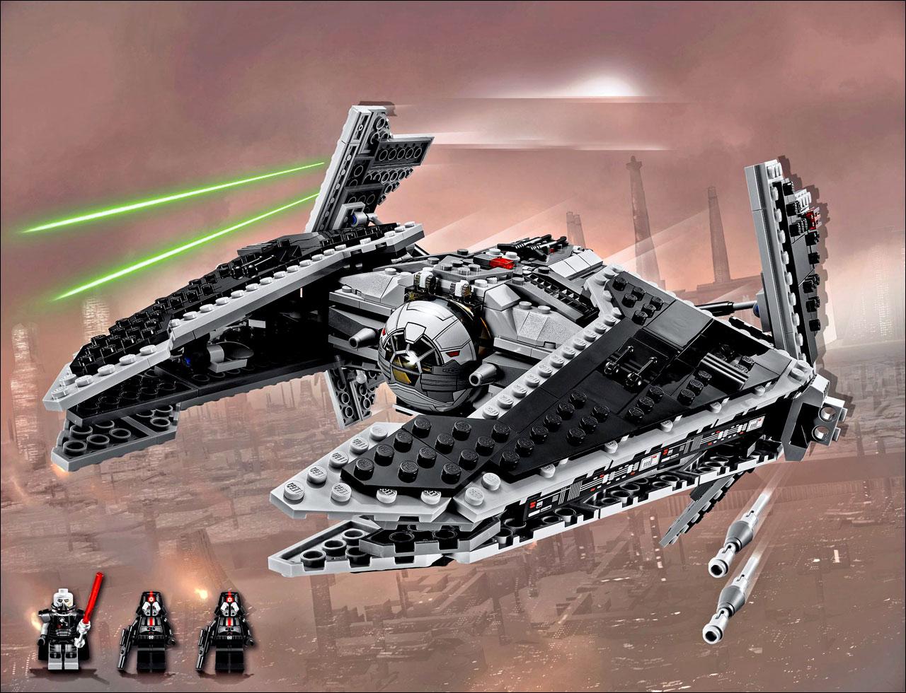 illustration du set 9500 sith fury class interceptor nouveauts lego star wars 2012
