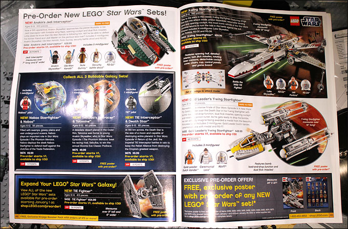 Le catalogue LEGO Star Wars 2012