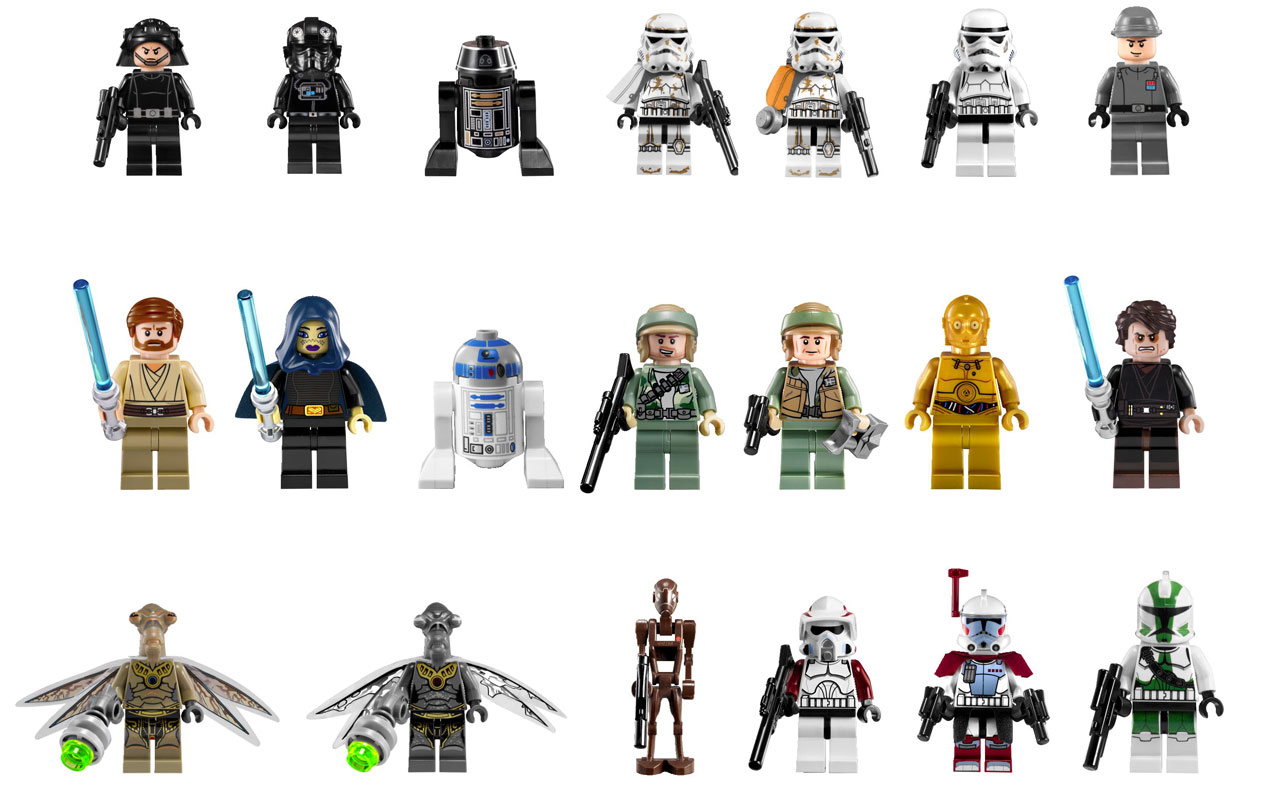 les minifigurines lego star wars 2012