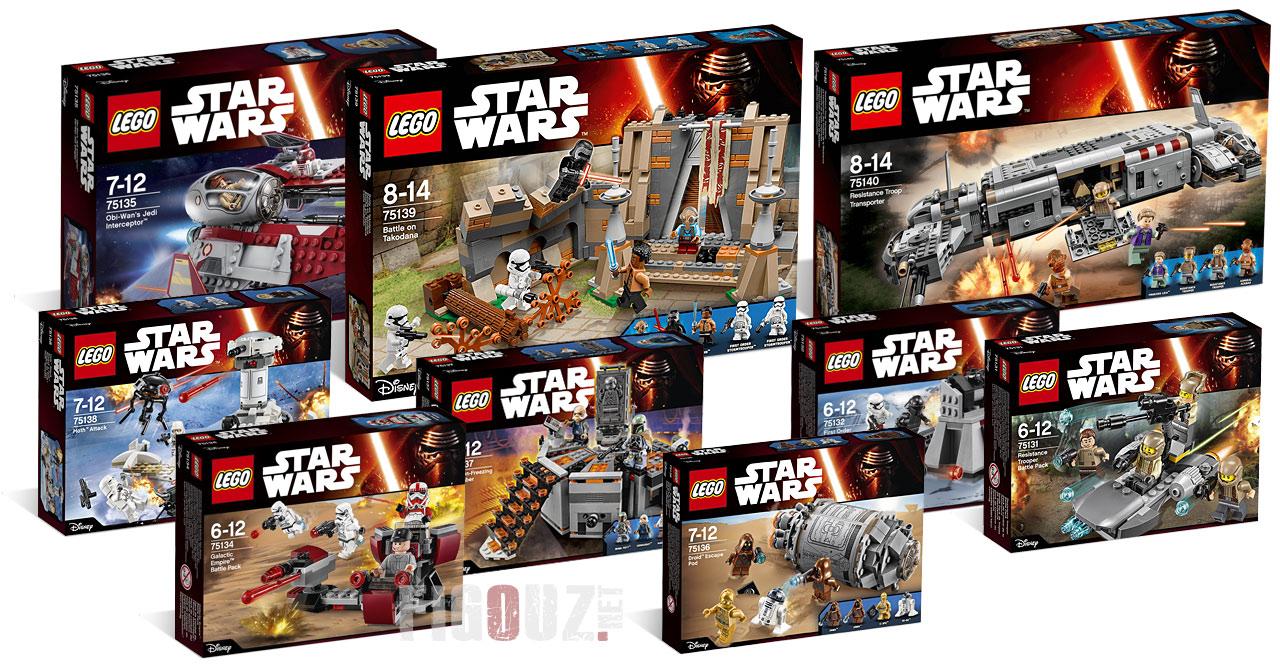Lego star wars 2016 les nouveaux sets star wars 7 les - Lego modeles de construction ...