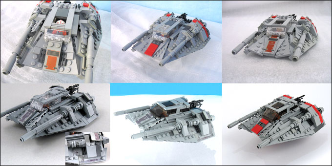 MOC du T-47 Snowspeeder de Larry Lars - Les version successives