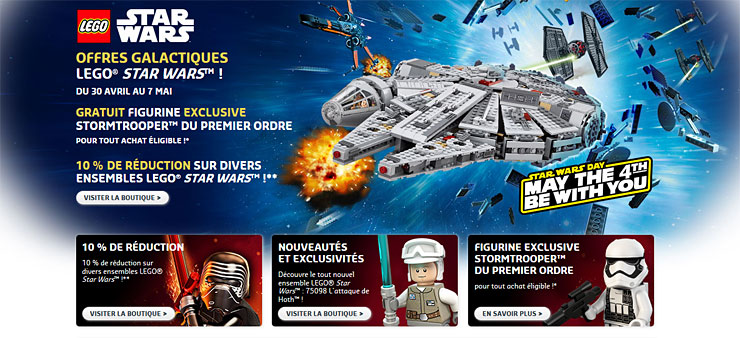 Offres LEGO Star Wars May The 4th