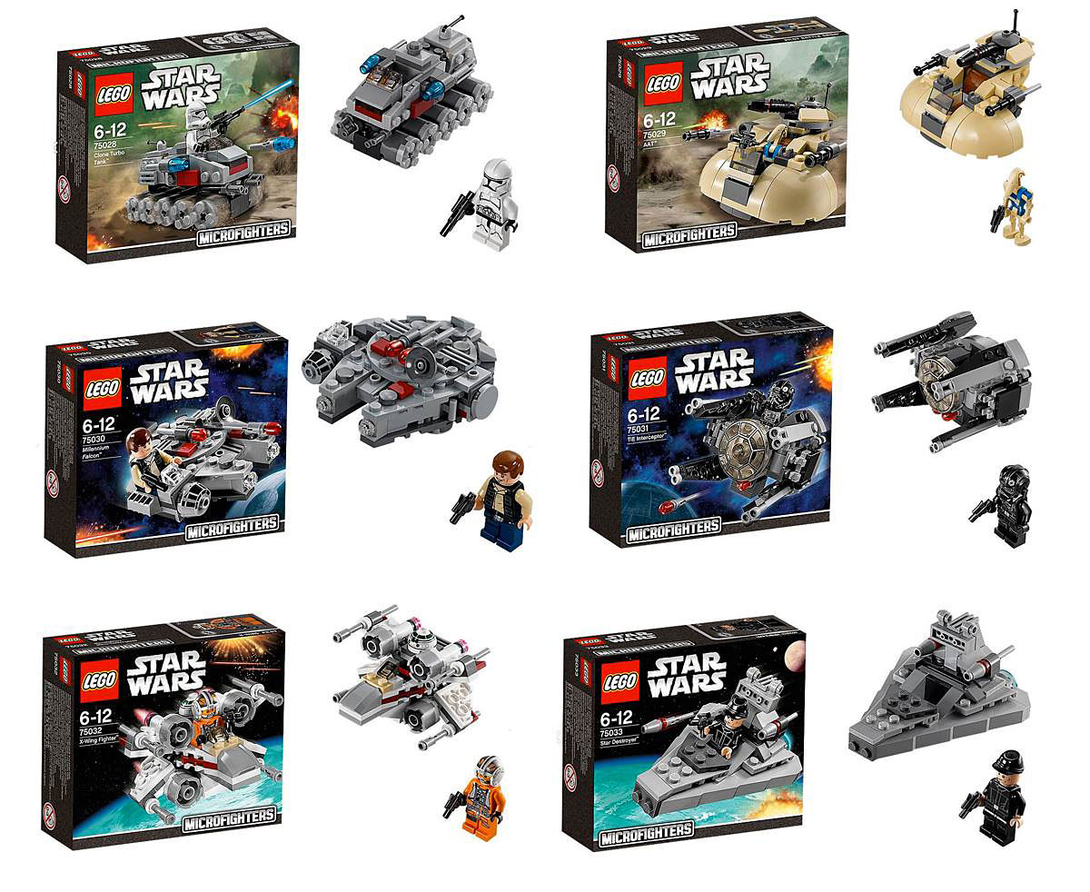 lego stars wars 2014 microfighters