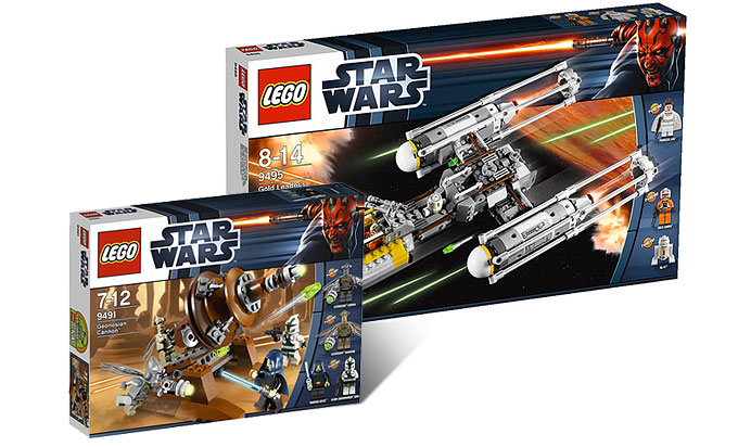 Les photos HD du 9491 Geonosian Canon et du 9495 Y-Wing Gold Leader !
