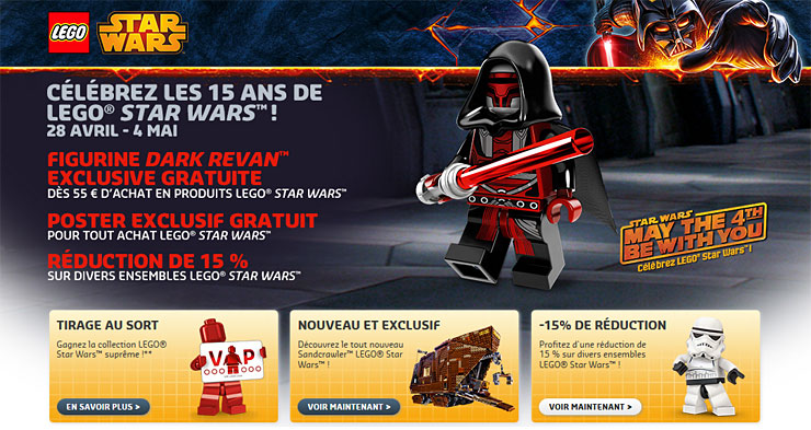 Les offres LEGO VIP de mai 2014 - May the Fourth !
