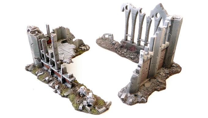 Lire le tutoriel sur la préparation, le soclage et la peinture de ses décors de ruines