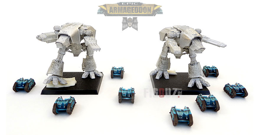 Titans « Warhound  » True Scale 6mm pour EPIC Armageddon