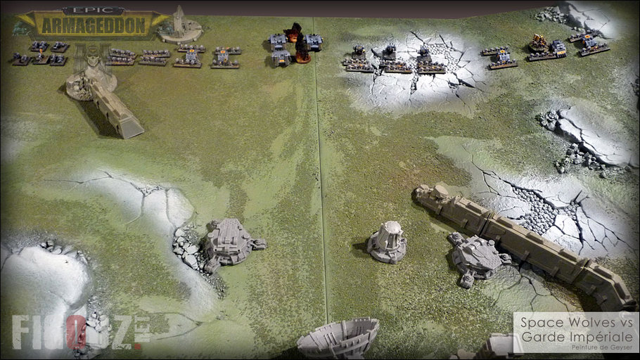 Epic Armageddon - Spave Wolves vs Guarde Impériale