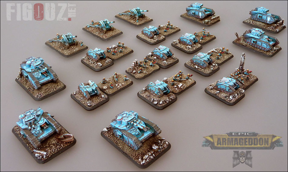 1250 points de ma Death Korps Of Krieg Epic Full Paint !