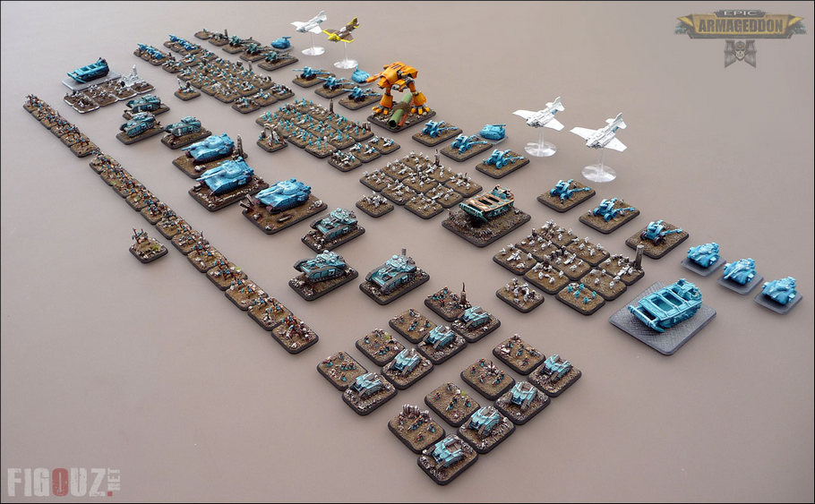 Overall picture of my Death Korps Of Krieg army for Epic Armageddon - December 2014