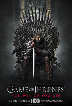 Poster officiel de la série A Games of Thrones