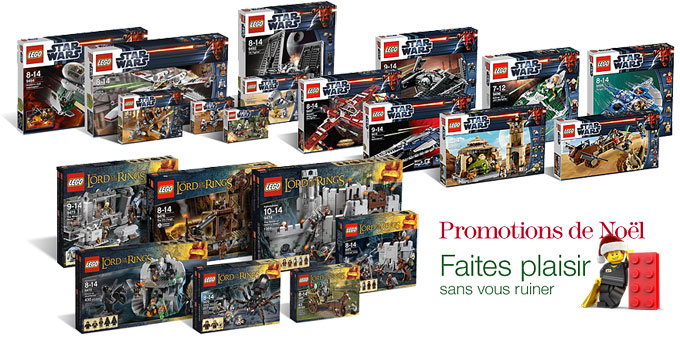 Les promos LEGO Star Wars & LOTR Amazon !