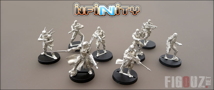 Mes premières figurines Yu Jing pour Infinity !