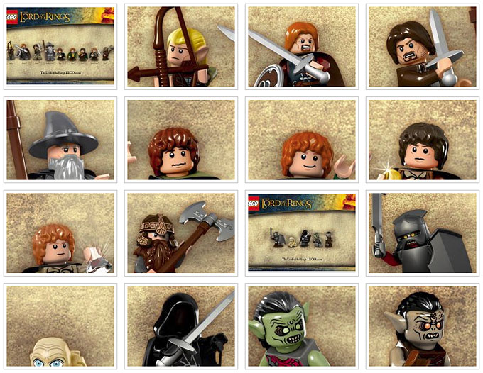 Les minifigurines LEGO Lord Of The Rings !