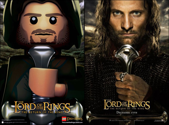 La nouvelle minifigurine d'Aragorn - LEGO Lord Of The Rings et The Hobbit