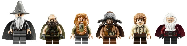 Les minifigurines du set 79003 Bag End