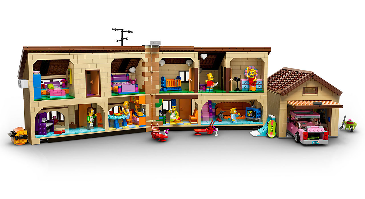lego 71006 the simpsons house la maison des simpson en lego avec les minifigurines de homer. Black Bedroom Furniture Sets. Home Design Ideas