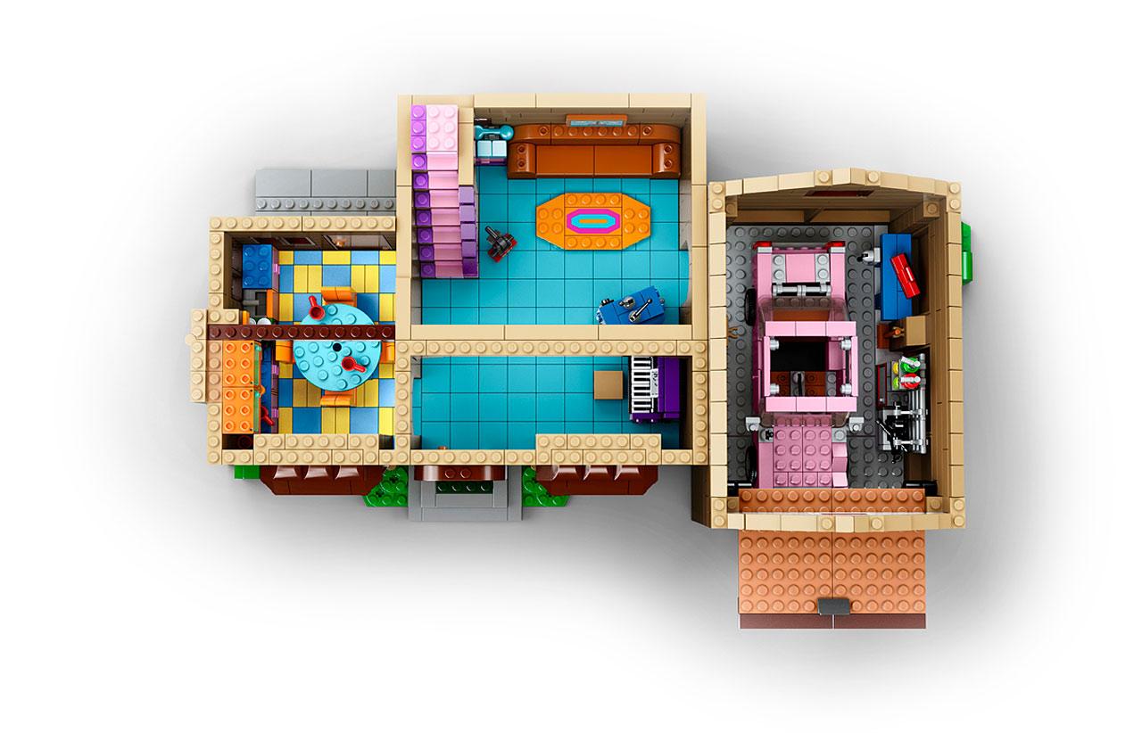 lego 71006 the simpsons house la maison des simpson en lego avec les minifigurines de homer. Black Bedroom Furniture Sets. Home Design Ideas