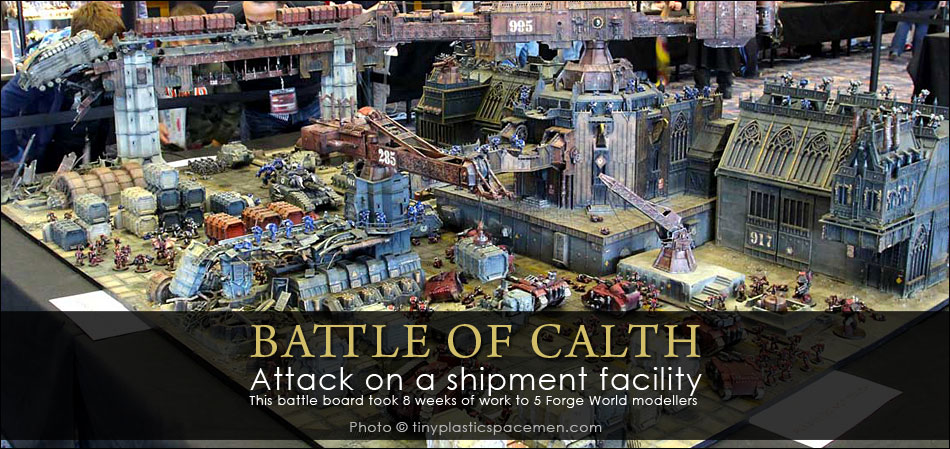 WARHAMMER FEST 2014 - L'incroyable table de jeu de la bataille de Calth par Forgeworld !