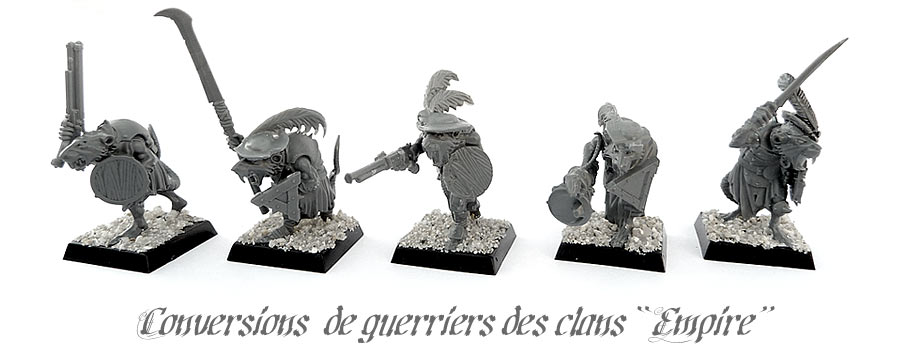 Conversion de guerriers des clans skavens au look Empire