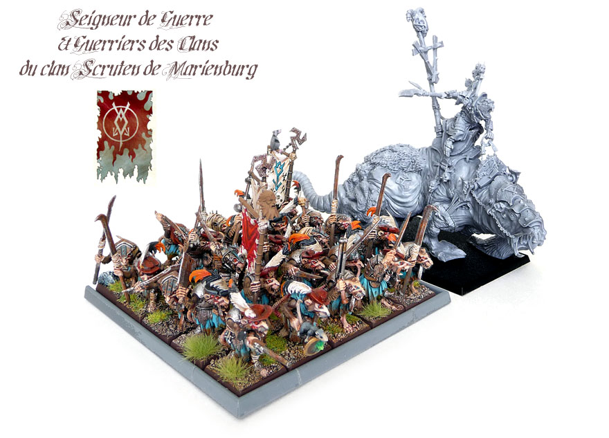 Skaven Warlord on Brood Horror et Exalted Vermin Lord de Warhammer Forge !